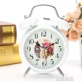 鬧鐘機械小巧 書桌立式指針式學生鬧鐘宿舍用鬧錶靜音機芯夏沫之戀