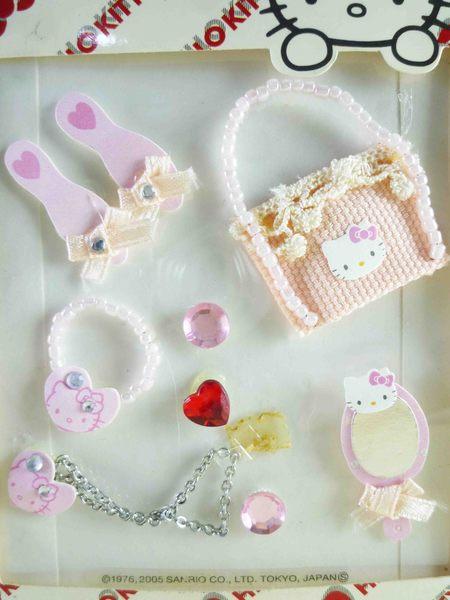 【震撼精品百貨】Hello Kitty 凱蒂貓~KITTY立體鑽貼紙-飾品