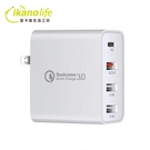 48W_4Ports充電分享器_30W Type-C+18W C3.0快充_MacbookAir、switch、手機可用