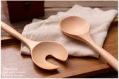 雙12購物節勺子叉子大號長柄創意日本原木餐具