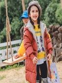 女童棉服中長款加厚韓版中大童羽絨棉衣新款洋氣兒童冬季外套 町目家