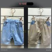 ~╮寶貝丹 ╭~簡單實搭素面條紋圖案短褲男女童休閒褲小童五分褲 ~