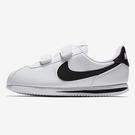 Nike Cortez Basic SL PSV 童鞋 中童 阿甘 魔鬼氈 皮革 白 黑【運動世界】904767-102