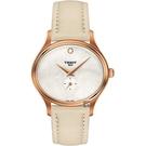 TISSOT 天梭 BELLA ORA 系列小秒針女錶-珍珠貝x米色/31mm T1033103611100