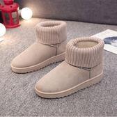 雪靴 雪地靴女冬季新款加絨保暖防滑短筒靴子