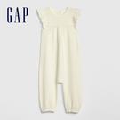 Gap女嬰兒柔軟荷葉邊針織一件式包屁衣4...