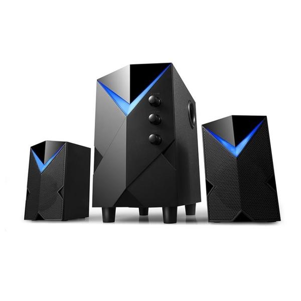 藍芽喇叭 H8電腦喇叭台式家用重低音炮筆電迷你多媒體藍芽喇叭2.1有源木質插卡手機喇叭