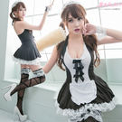 女僕裝 L號 中大尺碼制服 蘿莉小女僕蕾絲洋裝-愛衣朵拉