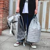 反光立體PVC書包男女嘻哈透明雙肩包大容量後背包【小酒窩服飾】