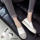 休閒鞋.經典壓鑽厚底休閒鞋【K4-114】黑色/白色(偏小)