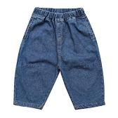 男童牛仔褲 男童牛仔中褲夏薄款短褲兒童洋氣燈籠褲外穿七分褲中小童男孩寬松 歐歐