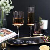 高腳杯 浮光 歐式玻璃紅酒杯高腳杯家用香檳杯燭臺兩用葡萄酒杯【1件免運好康八折】