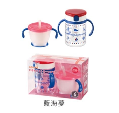 **小饅頭**Richell 藍海夢水杯組合(410417)