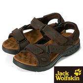 【Jack Wolfskin】男 休閒涼鞋『油咖』X7G10154 健行.涼鞋.自行車.溯溪.健走.海邊.沙灘鞋.露營.男版