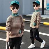 男童打底衫加絨加厚高領長袖T恤衛衣冬裝2019新款中大兒童洋氣潮A