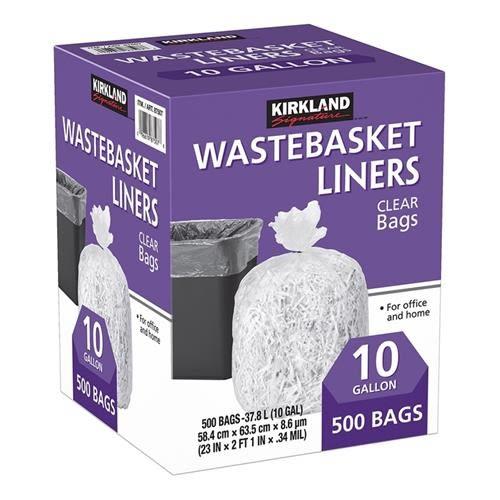Kirkland Signature 科克蘭 垃圾袋 37.8公升 (58.4 x 63.5cm) 500入