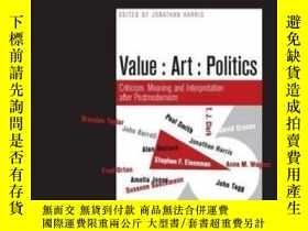二手書博民逛書店Value,罕見Art, PoliticsY255562 Harris, Jonathan Liverpool