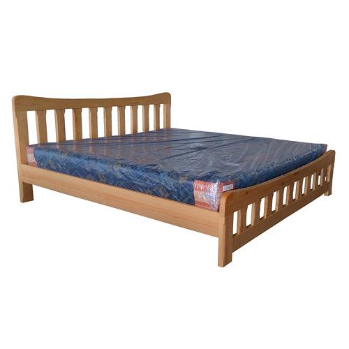 【藝匠】檜木6尺雙人加大床台/架 實木 床組 床上 原木 床架 房間