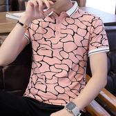 新款短袖polo衫男潮小清新夏季青年潮牌純棉翻領半袖t恤
