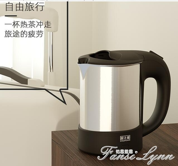 廚之健便攜式燒水壺旅行電熱水壺小型容量迷你開水壺不銹鋼日本  一米陽光
