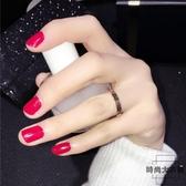 格子紋理鈦鋼戒指女時尚個性日系食指指環素圈【時尚大衣櫥】