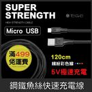 GS.Shop 騰緯 鋼鐵魚絲線 1.2米 Micro USB 6A HTC 三星 SONY 華碩 快速 充電線 傳輸線