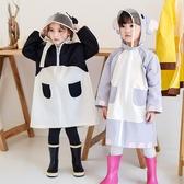 連體防水動物輕薄兒童雨衣雨披女男童帶書包位【聚寶屋】