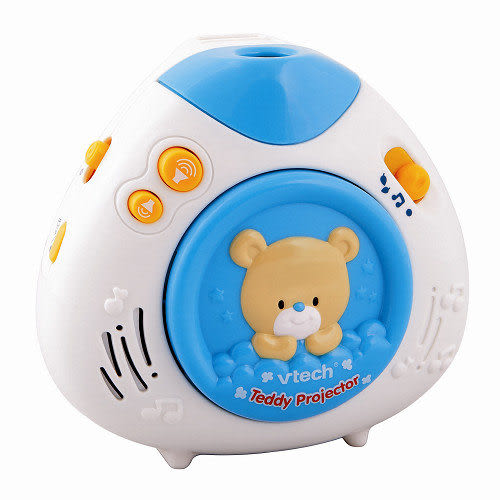 【奇買親子購物網】Vtech 寶貝熊床邊音樂投射機(藍色/粉色)