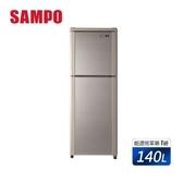 【SAMPO 聲寶】140公升一級能效經典品味系列定頻雙門冰箱(SR-C14Q-Y9)