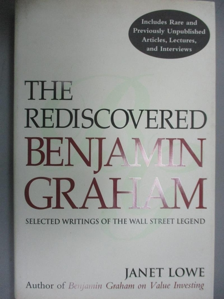 【書寶二手書T4/傳記_WFD】The Rediscovered Benjamin Graham: Selected W