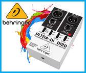 【小麥老師樂器館】現貨 Behringer 耳朵牌 ULTRA-DI DI20 兩軌DI轉換器 主動式訊號轉換 效果器