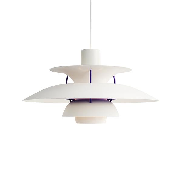Louis Poulsen PH 5 Suspension Lamp in Matt White 保羅漢寧森 霧面白色系列 四層次 吊燈