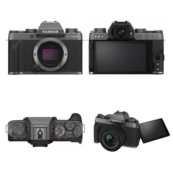 Fujifilm X-T200 Kit組 暗銀色 灰色〔含 XC 15-45mm〕平行輸入
