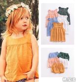 透氣舒服棉麻背心上衣 女童 背心 另有褲子可搭配整套 橘魔法 Baby magic  現貨 童裝