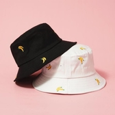 漁夫帽刺繡水果遮陽帽日系百搭【奇趣小屋】