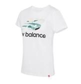 New Balance  女款運動短袖 白 -NO.AWT91584WT