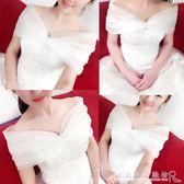 現貨出清冬季新娘結婚禮服蕾絲伴娘長袖保暖婚紗毛披風紅白色外搭披肩外套11-9