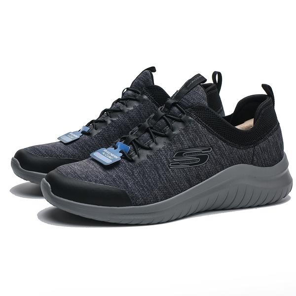SKECHERS SK ULTRA FLEX 2.0 灰底 黑 慢跑鞋 男 (布魯克林) 52765BKCC