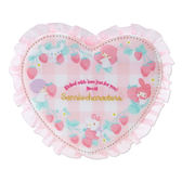 Hamee 日本正版 三麗鷗 甜蜜草莓季 愛心 鏡子 折立式 化妝鏡 kitty 美樂蒂 雙子星 大耳狗 931322
