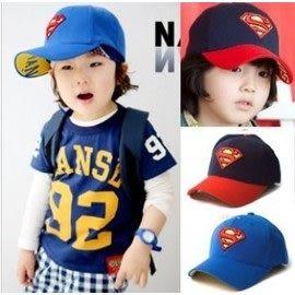 *甜蜜蜜親子童裝*帥氣《超人造型款》寶寶棒球帽~遮陽帽~
