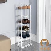 多層北歐大理石鞋架子簡易門口家用室內多層窄小鞋櫃收納【宅貓醬】