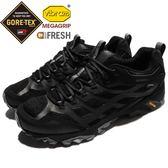 Merrell 戶外鞋 Moab FST GTX 黑 灰 Gore-Tex 防水 透氣 越野 休閒鞋 運動鞋 男鞋【PUMP306】 ML36909