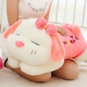 巨安網購?【HB106082218】新款粉色趴趴狗公仔可愛狗狗毛絨玩具布娃娃