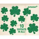 聖派翠克 裝飾 金蔥裝飾紙卡10入-幸運草