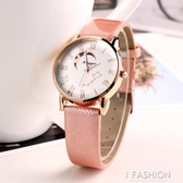 新款復古女士手錶防水時尚款女潮流石英錶皮帶韓版學生簡約休閒-Ifashion