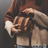 小包包女2019新款韓版波士頓手提包港風復古單肩斜挎包少女小挎包      良品鋪子