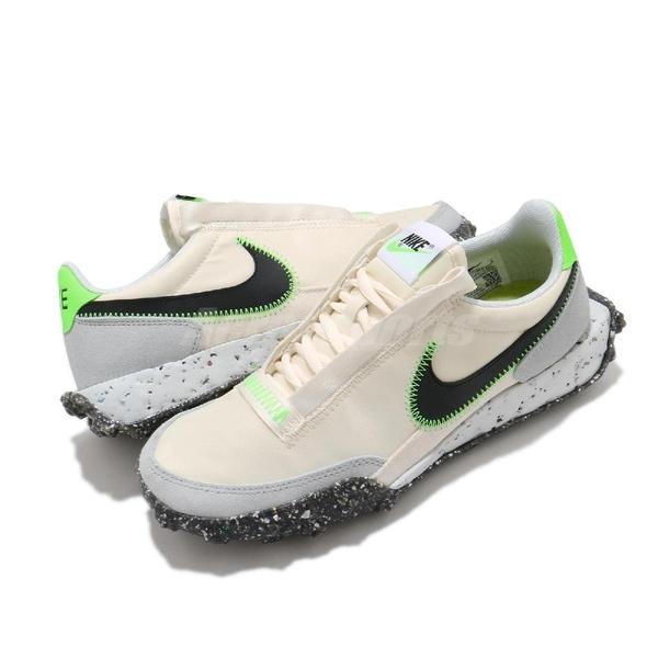 Nike 休閒鞋 Waffle Racer Crater 米白 黑 女鞋 復古慢跑鞋 再生材質【ACS】 CT1983-102