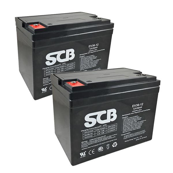 龍昌 SCB EV36-12 鉛酸電池 兩顆一組 12V 36Ah 代步車 電動機車 電動車 電池【康騏電動車】