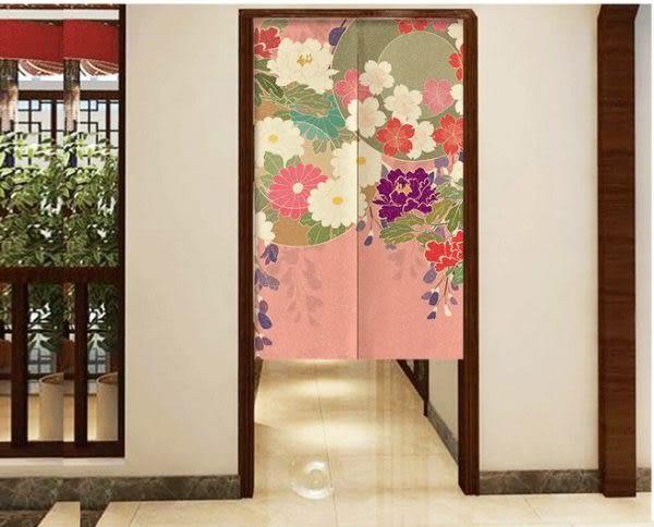 可愛時尚棉麻門簾E36 廚房半簾 咖啡簾 窗幔簾 穿杆簾 風水簾 (80寬*150cm高)