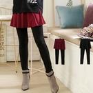 日系竹節布接色層次顯瘦 褲裙(XS-5L...